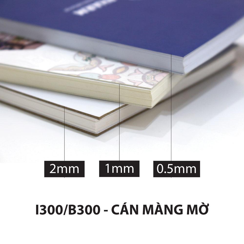 0,5mm- 1 tờ Bristol/Ivory 300gsm - Cán màng bóng/mờ